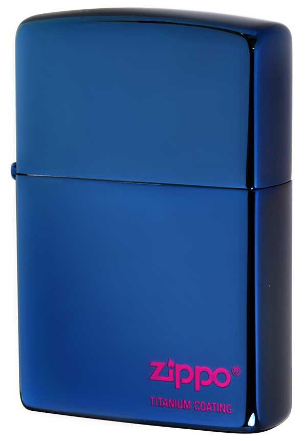 Zippo ジッポー TITANIUM COATING チタニュームコーティング #200 ブルーチタン #いろは メール便可