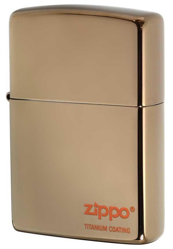 Zippo ジッポー TITANIUM COATING チタニュームコーティング #200 ブラウン #ほへと メール便可