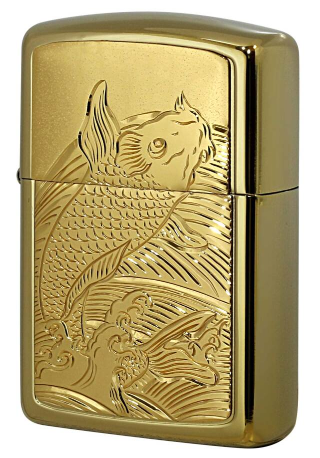 Zippo ジッポー ARMOR アーマー GOLD TITANIUM COATING BODY 鯉W