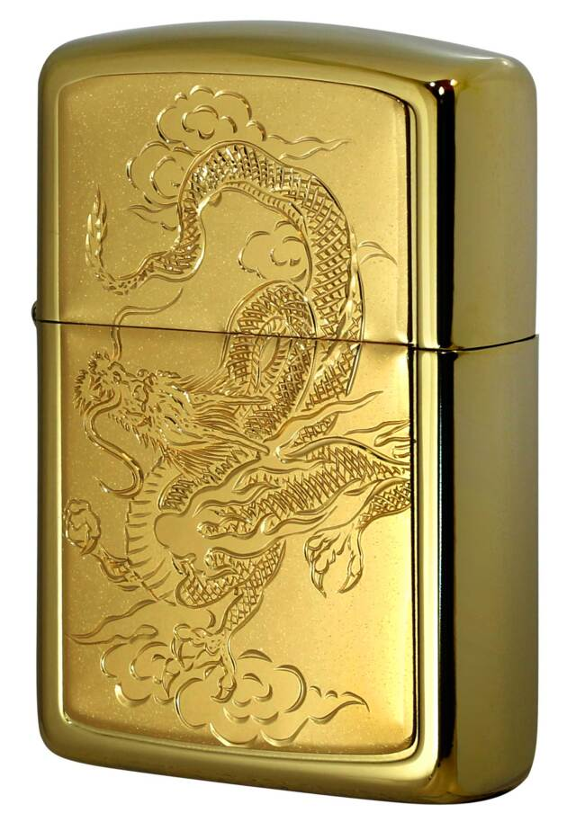 Zippo ジッポー ARMOR アーマー GOLD TITANIUM COATING BODY 龍W