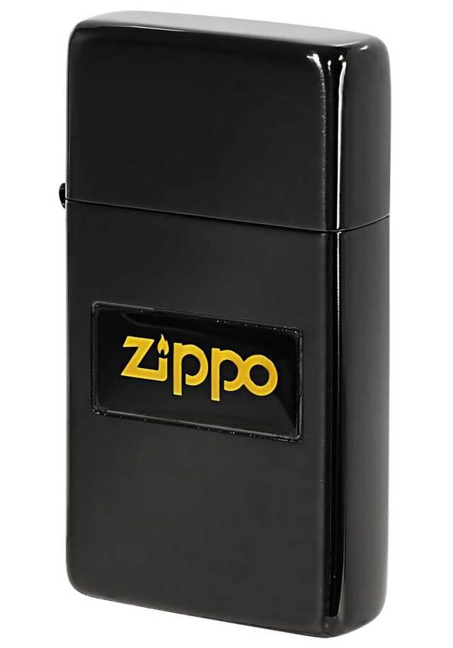 Zippo ジッポー SLIM ARMOR スリムアーマー 液晶ロゴ ブラック #1 メール便可