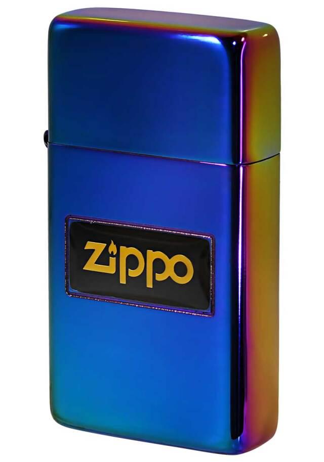 Zippo ジッポー SLIM ARMOR スリムアーマー 液晶ロゴ レインボー #2 メール便可