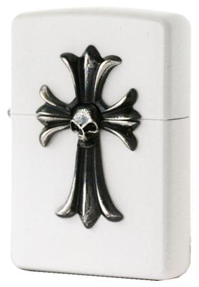 Zippo ジッポー Skull Cross (A)ホワイト