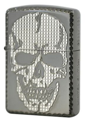 Zippo ジッポー SKULL STUDS 2(W)White&Black Nickel