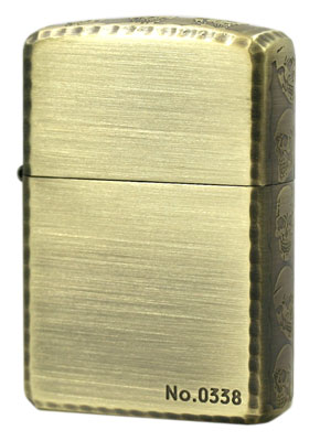 Zippo ジッポー 3ER-SKULL (A) Antique Brass メール便可