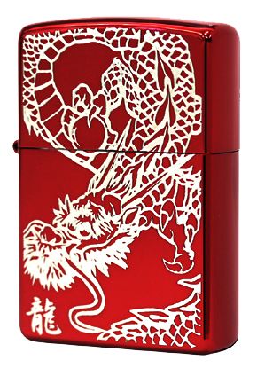Zippo ジッポー RED DRAGON (S)IonRed 銀サシ