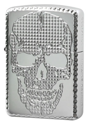 Zippo ジッポー SKULL STUDS (P)Platinum Plate(G・tank)