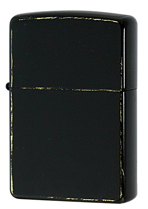 Zippo ジッポー Brass BLACK Damage Coating(G・tank)