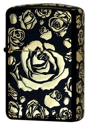 Zippo ジッポー Black Mat ROSE BM.Gold ROSE