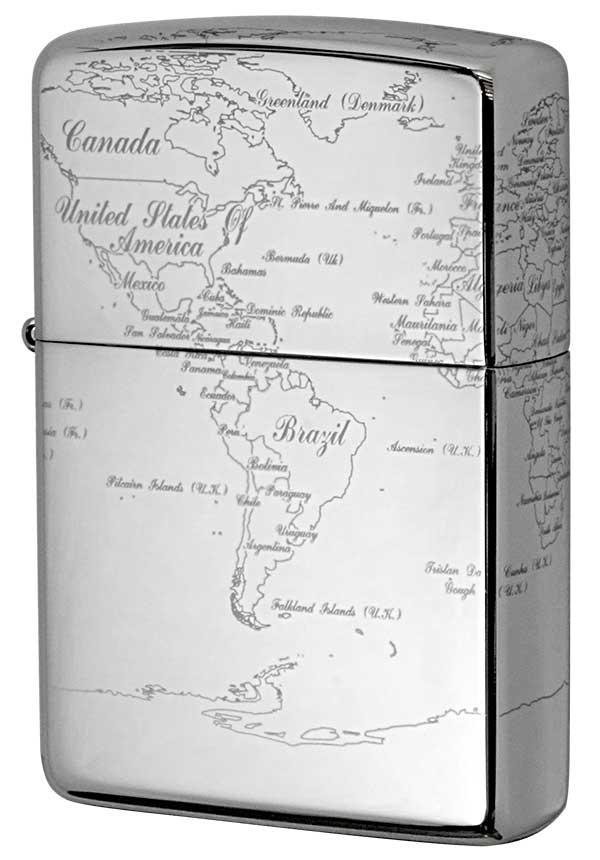 Zippo ジッポー World Map ワールドマップ PT