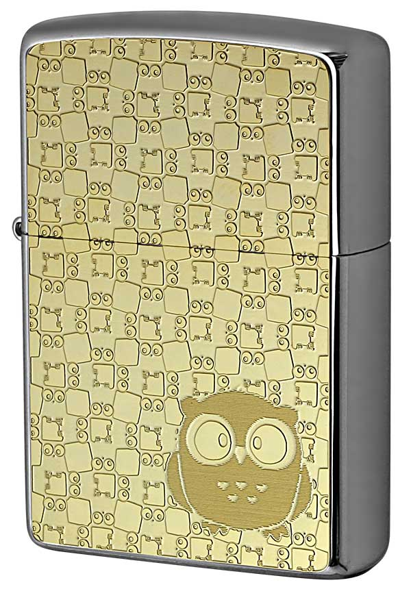 Zippo ジッポー 200 Flat Bottom Metal Paint Plate GP 2MP-フクロウ