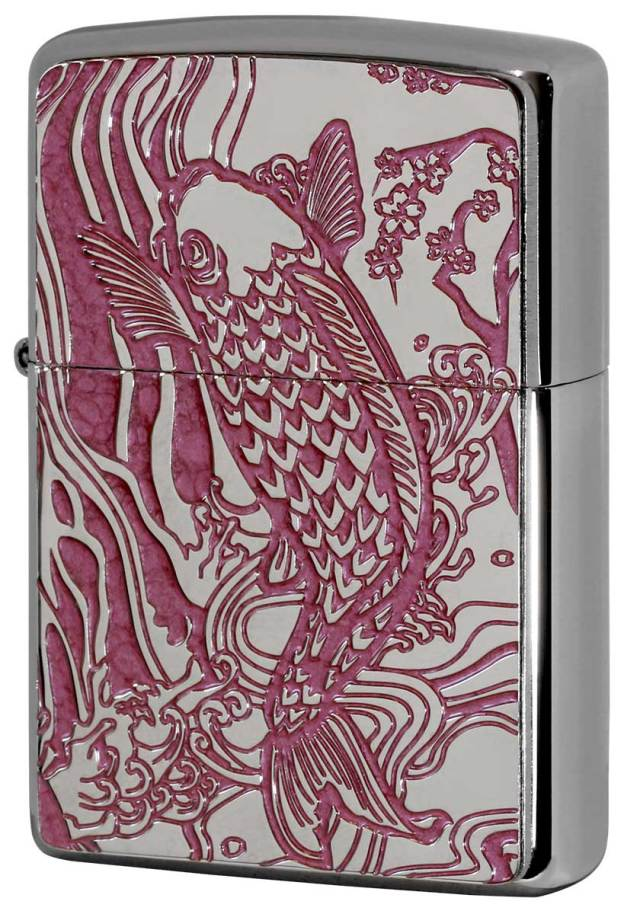 Zippo ジッポー 200 Flat Bottom Metal Paint Plate 2MPP-Carp PK メール便可
