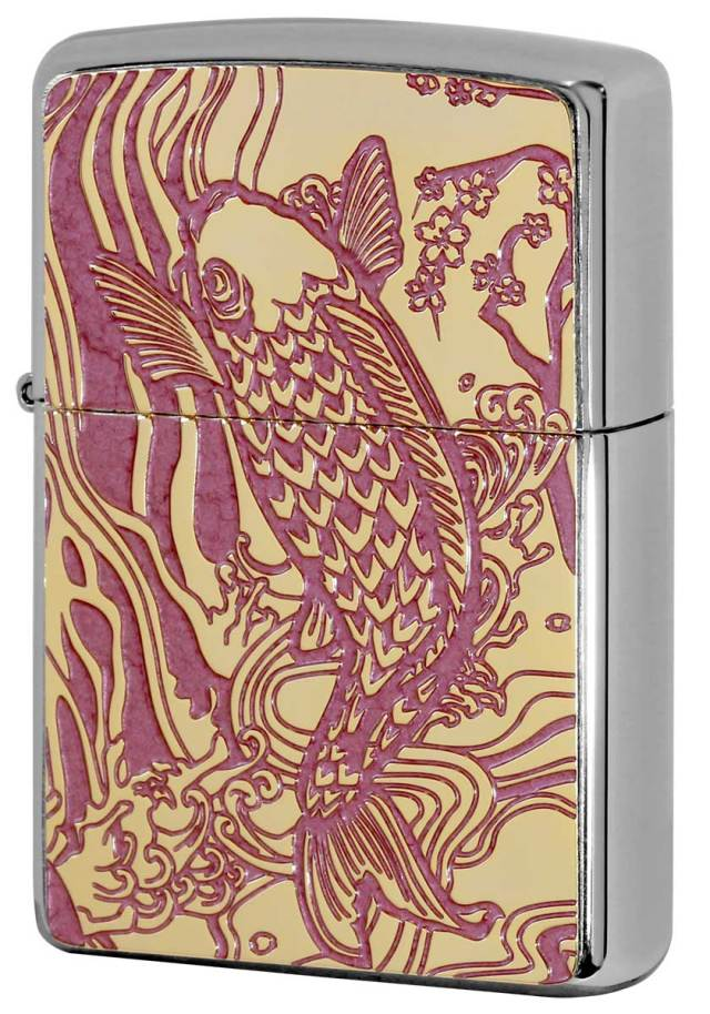 Zippo ジッポー 200 Flat Bottom Metal Paint Plate 2MPP-Carp PK GP メール便可