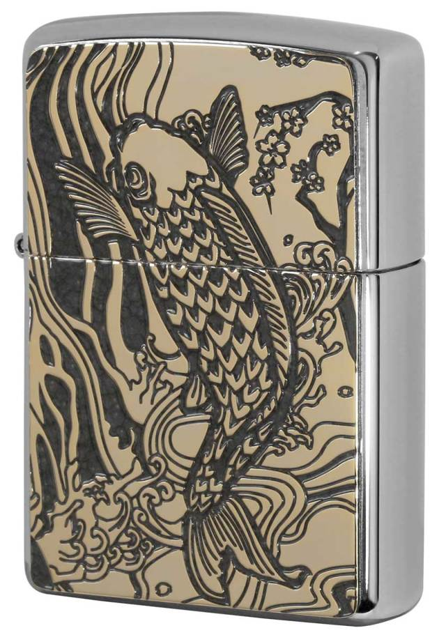Zippo ジッポー 200 Flat Bottom Metal Paint Plate 2MPP-Carp GY GP メール便可