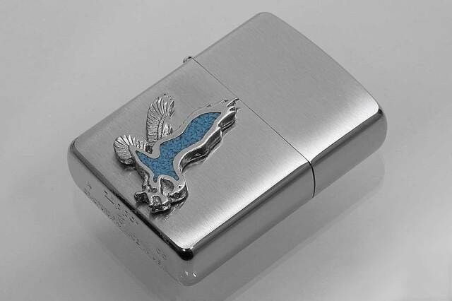 Zippo ジッポー 絶版・2005年製造 ARMOR アーマー #162 メタルエンブレム イーグル メール便可