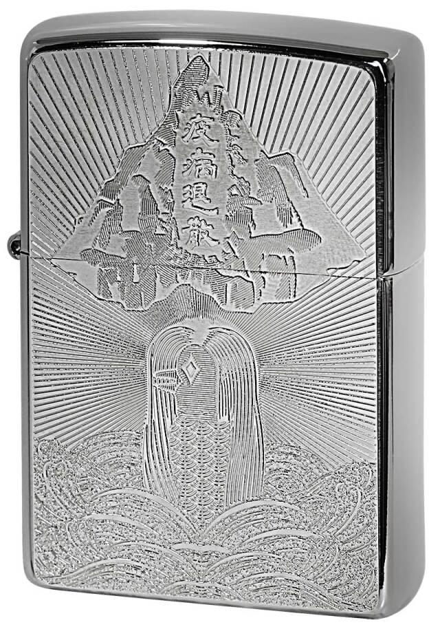 Zippo ジッポー アマビエ Metal Plate シルバー 2MP-アマビエ メール便可
