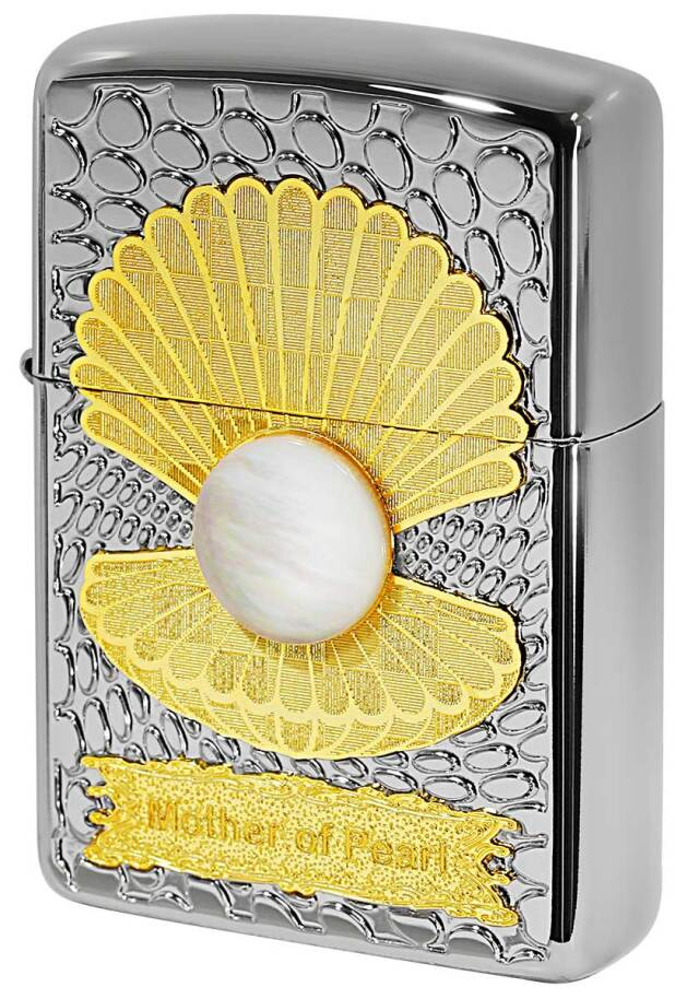 Zippo ジッポー ARMOR アーマー Mother of Pearl 白蝶貝 WH メール便可