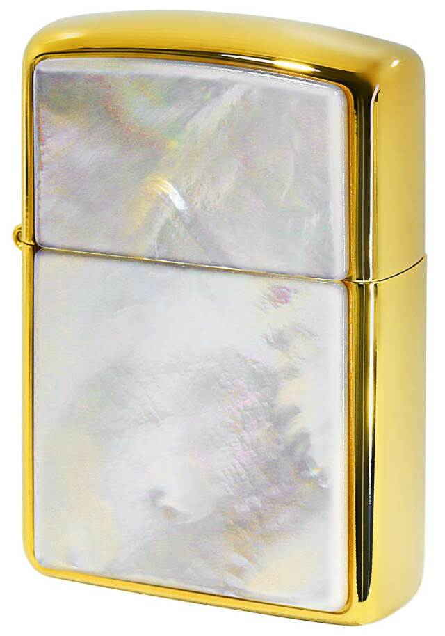 Zippo ジッポー ARMOR アーマー Mother of Pearl SOLID MoP 白蝶貝 Gold Plate G-tank