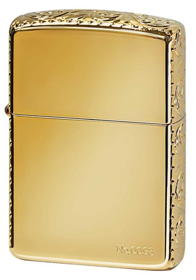 Zippo ジッポー ARMOR アーマー 3面加工 SPECIAL Hand Cuts Gold Plate 3HC-GP