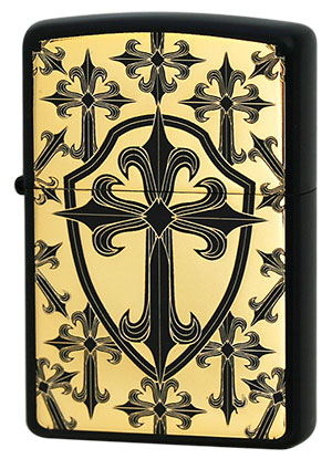 Zippo ジッポー THE CROSS 2BKG-GCROS