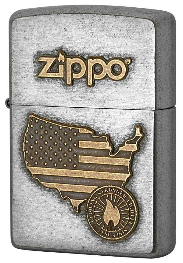 Zippo ジッポー LOGO METAL ロゴメタル 2SFM-AMERICA