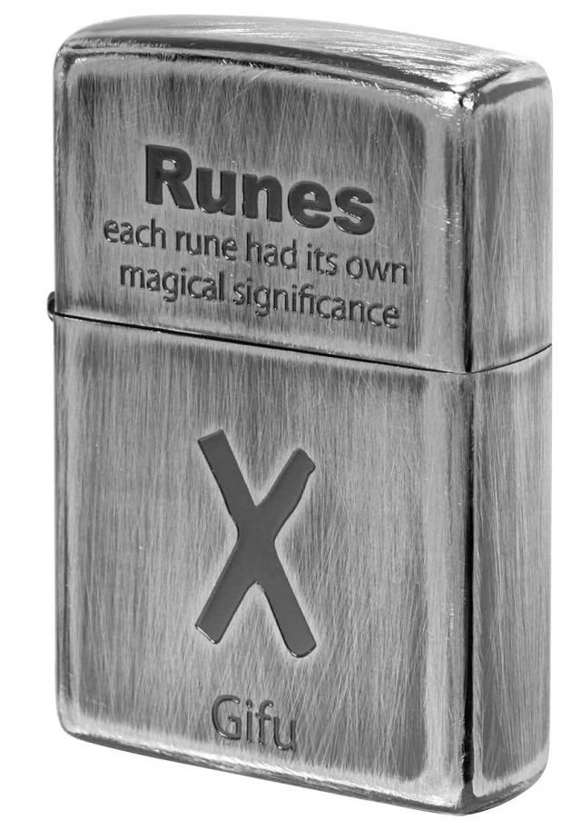 Zippo ジッポー Runes ルーン文字 ギューフ 愛情 2UDS-RUNES2 メール便可