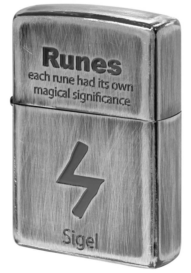 Zippo ジッポー Runes ルーン文字 シゲル 太陽 2UDS-RUNES3 メール便可