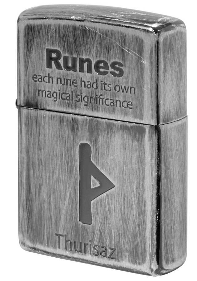 Zippo ジッポー Runes ルーン文字 ソーン 巨人 2UDS-RUNES4 メール便可