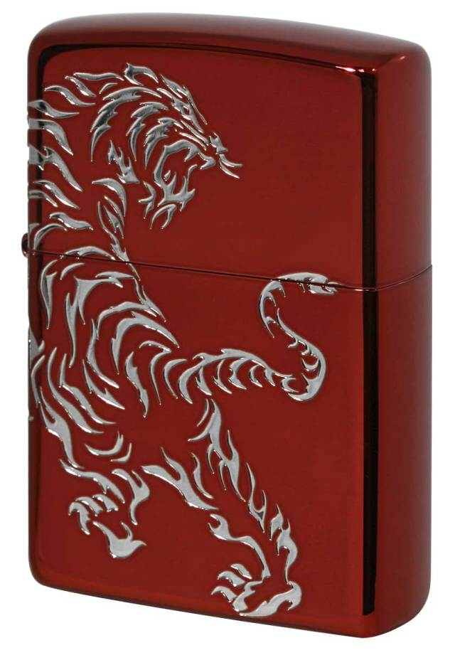 Zippo ジッポー Tiger & Dragon 2REDS-TIGER メール便可