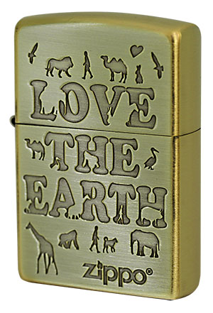 Zippo ジッポー LOVE THE EARTH MTB16J 2LE-BB メール便可