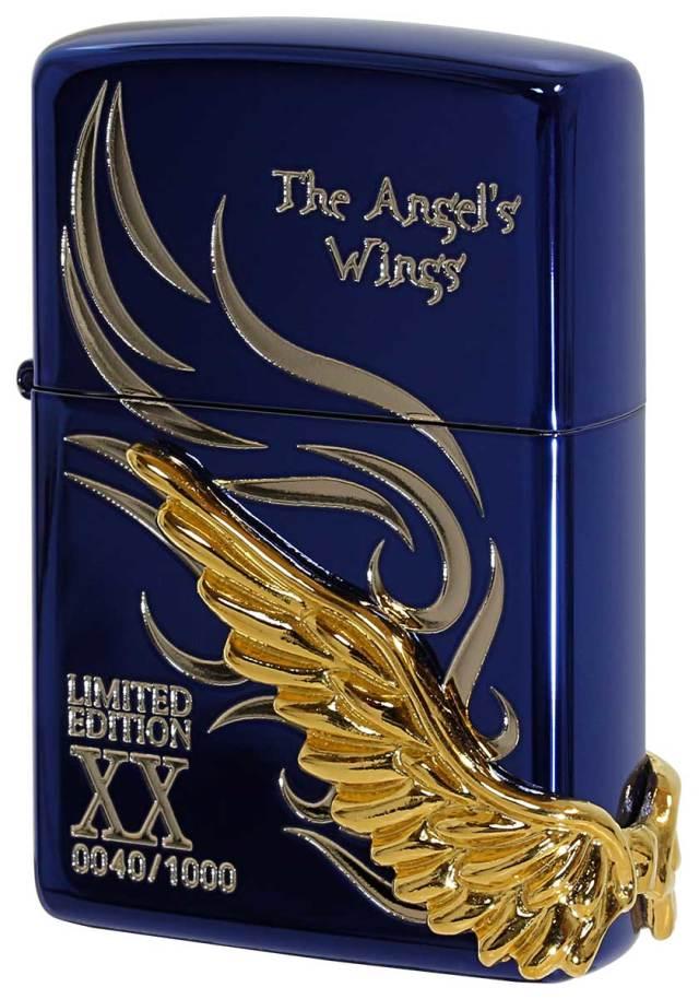 Zippo ジッポー 限定1,000個 ANGEL'S WINGS エンジェルウイングス イオンブルー PAW-120BLS