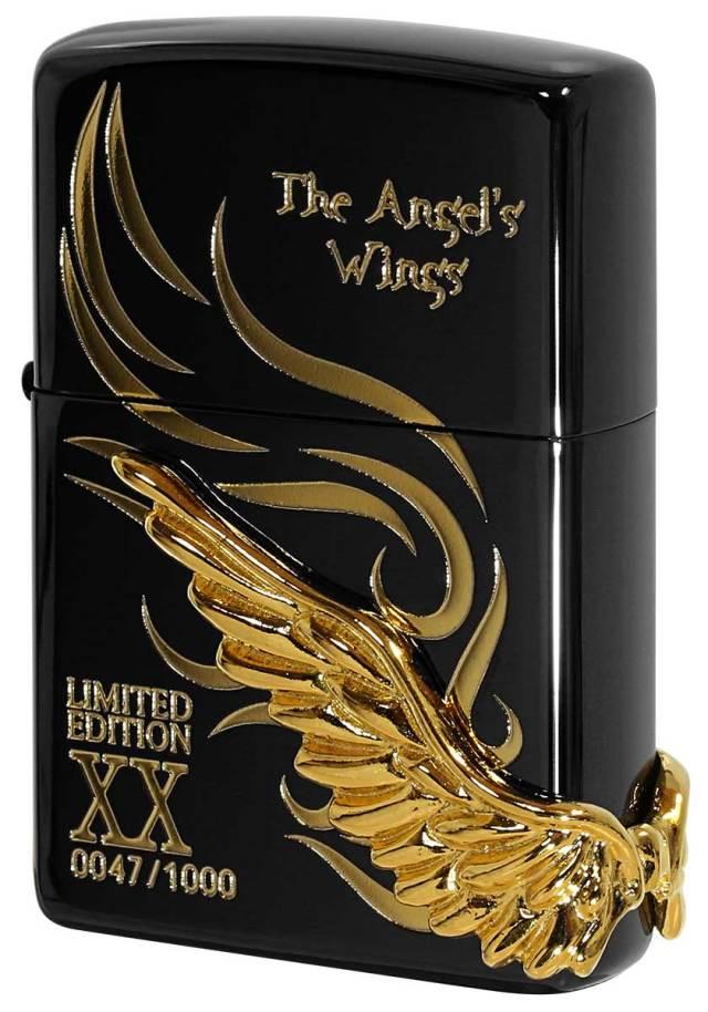 Zippo ジッポー 限定1,000個 ANGEL'S WINGS エンジェルウイングス イオンブラック PAW-120BKG
