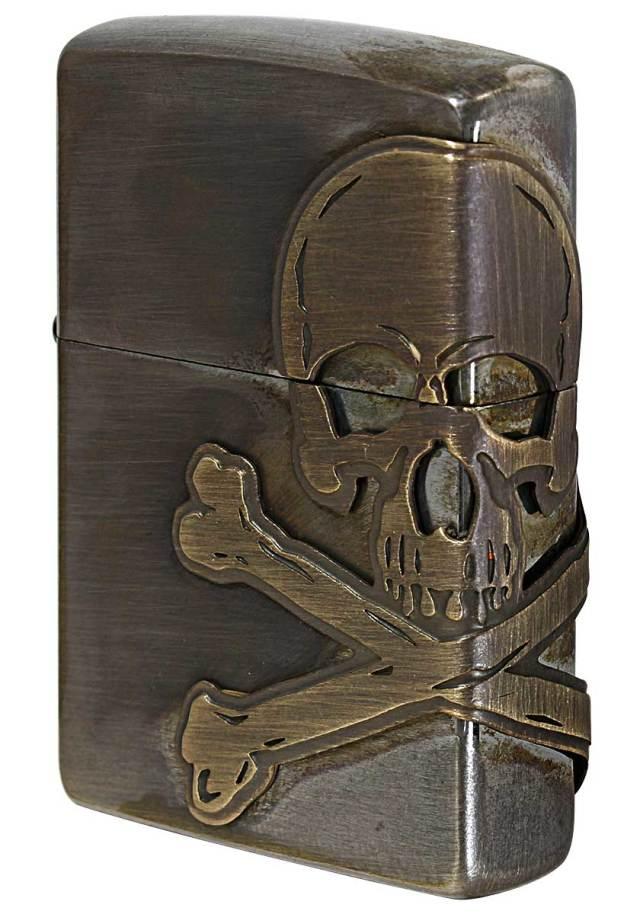 Zippo ジッポー Antique Skull アンティークスカル 2AB-SKULL メール便可
