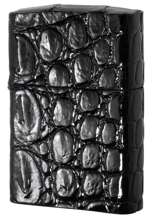Zippo ジッポー クロコダイル 黒