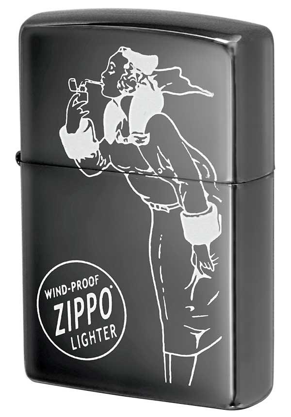 Zippo ジッポー Processing in USA Black Ice ブラックアイス Windy ウィンディ1