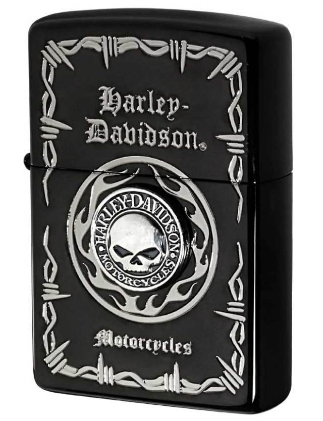 Zippo ジッポー 日本限定Zippo Harley Davidson ハーレーダビッドソン Sメタル スカル HDP-69 メール便可