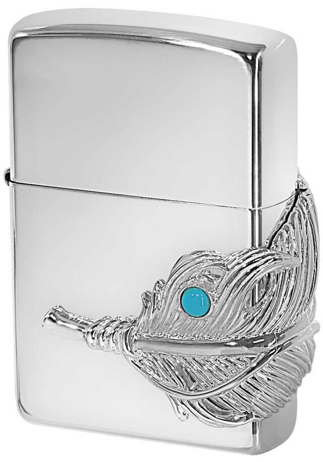 Zippo ジッポー Big Feather Metal ビックフェザーメタル スターリングシルバー 純銀