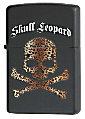 Zippo ジッポー Skull Leopard BK メール便可