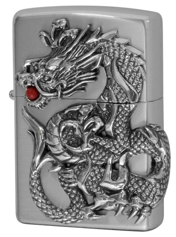 Zippo ジッポー ドラゴンメタル Dragon Metal 銀サテーナ