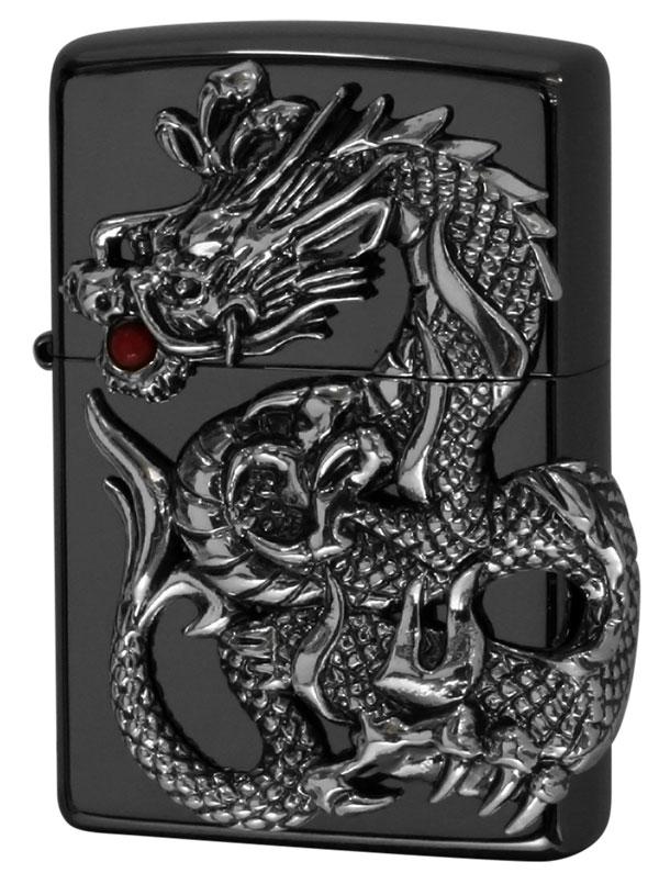 Zippo ジッポー ドラゴンメタル Dragon Metal 黒ニッケルミラー