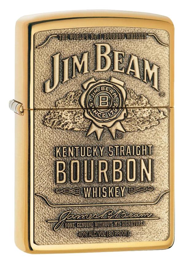 Zippo ジッポー Jim Beam Brass Emblem 254BJB.929 メール便可