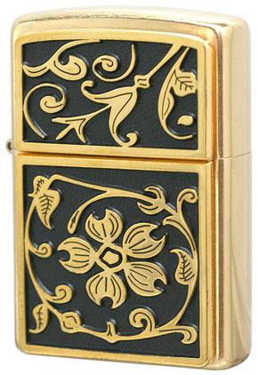 Zippo ジッポー Gold Floral Flush Emblem 20903 メール便可
