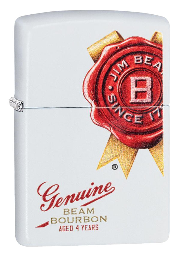 Zippo ジッポー Jim Beam, Genuine Beam Bourbon 29780 メール便可