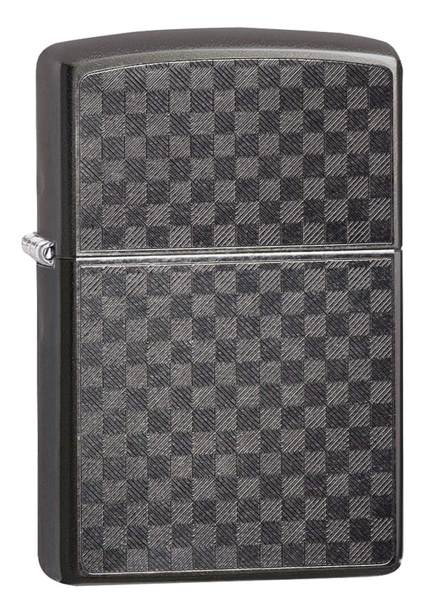 Zippo ジッポー Iced Carbon Fiber Checkered  29823 メール便可