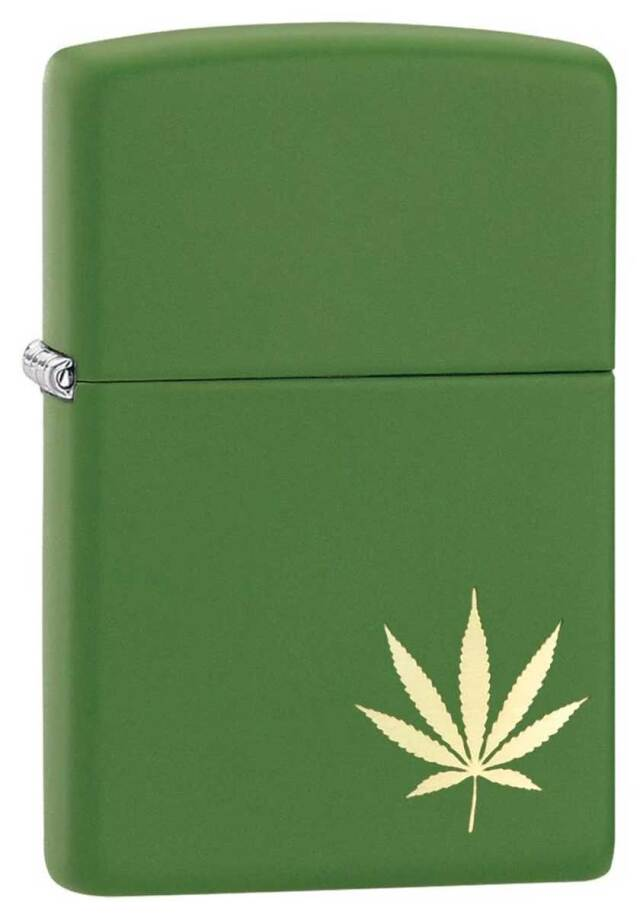 Zippo ジッポー Counter Culture Marijuana Leaf On The Side 29588 メール便可