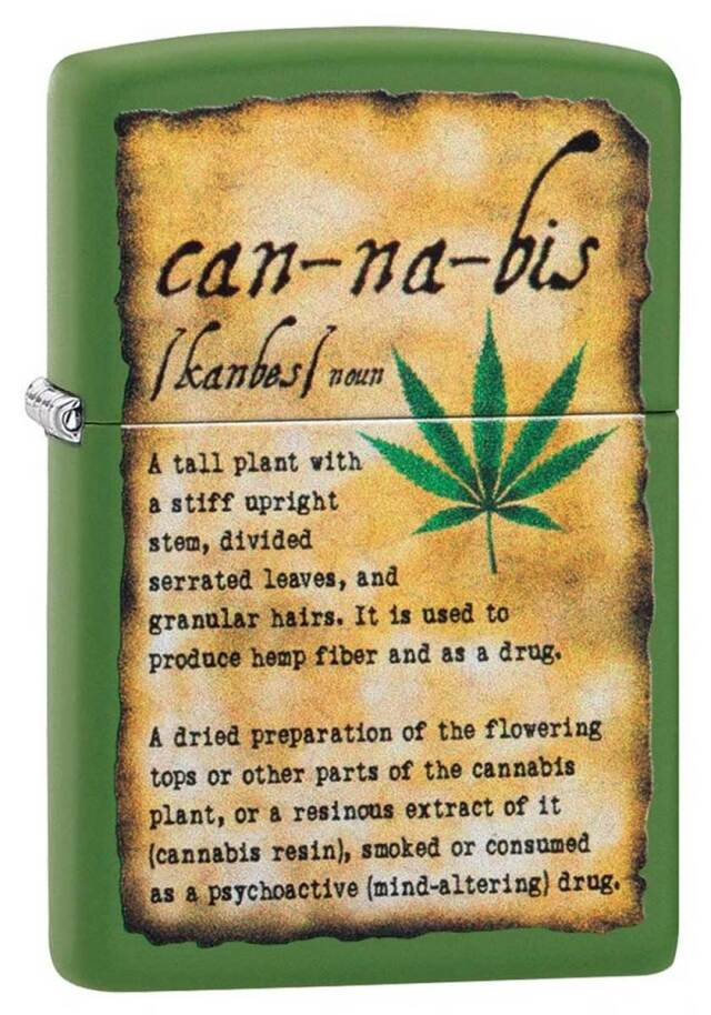 Zippo ジッポー Counter Culture Cannabis Description 49119 メール便可