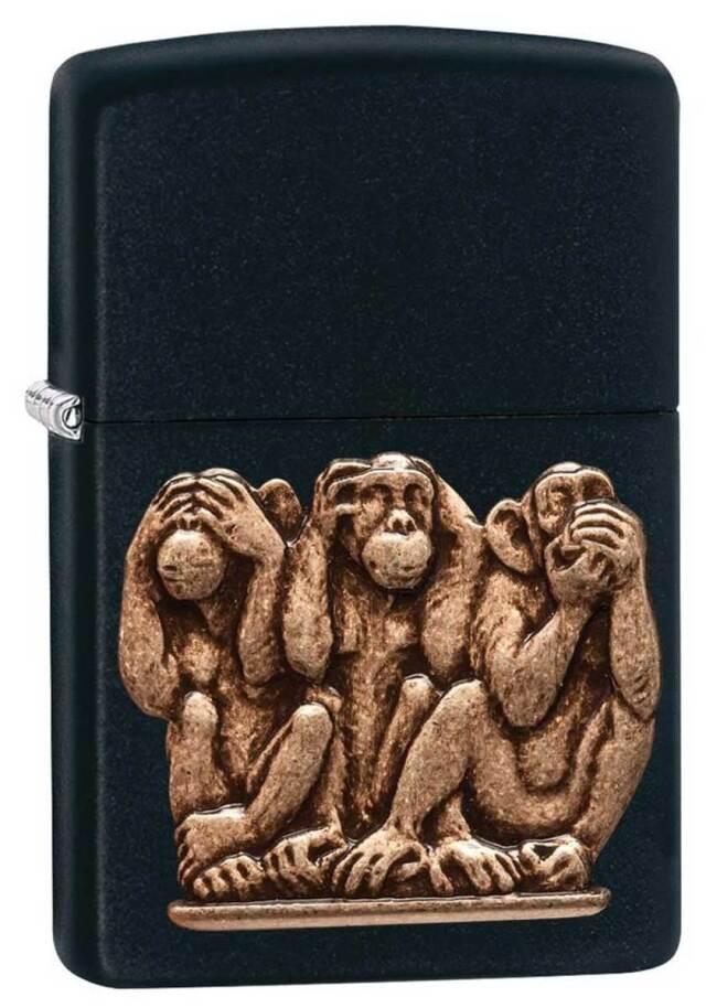 Zippo ジッポー Three wise monkeys 29409 メール便可