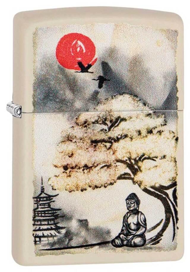 Zippo ジッポー Bonsai Buddha Under Tree 29846 メール便可