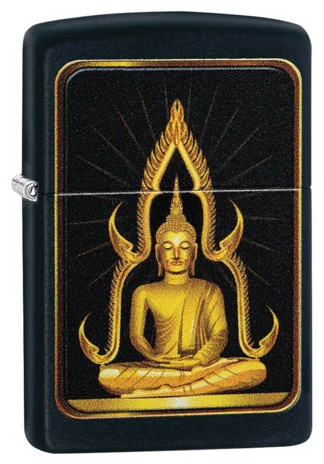 Zippo ジッポー Buddha Black Matte 29836 メール便可