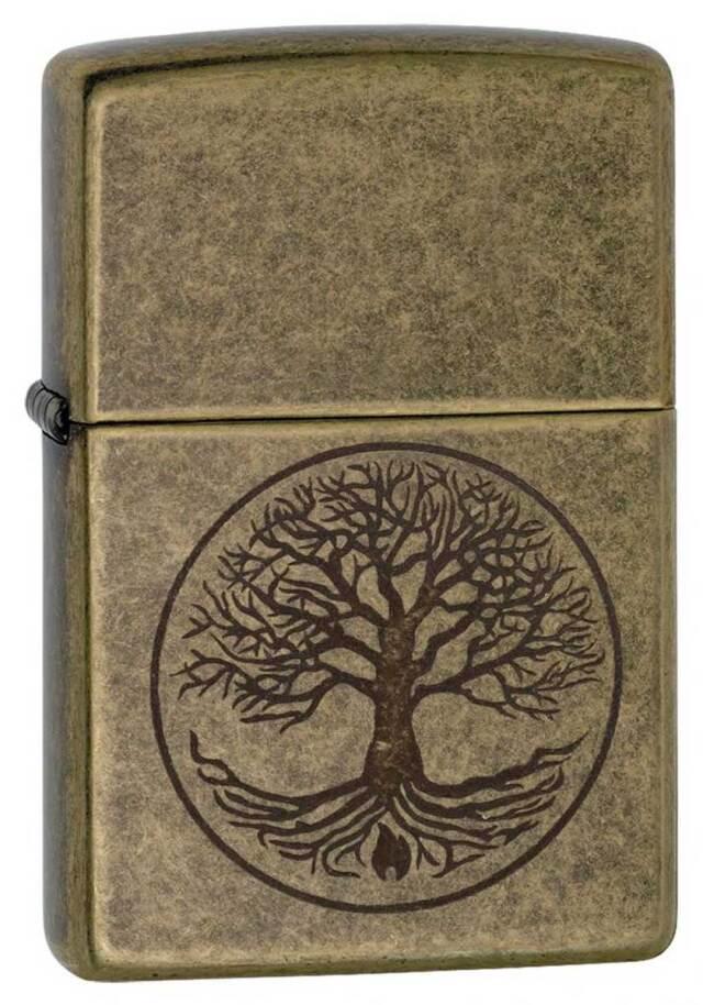 Zippo ジッポー Tree of Life Antique Brass 29149 メール便可